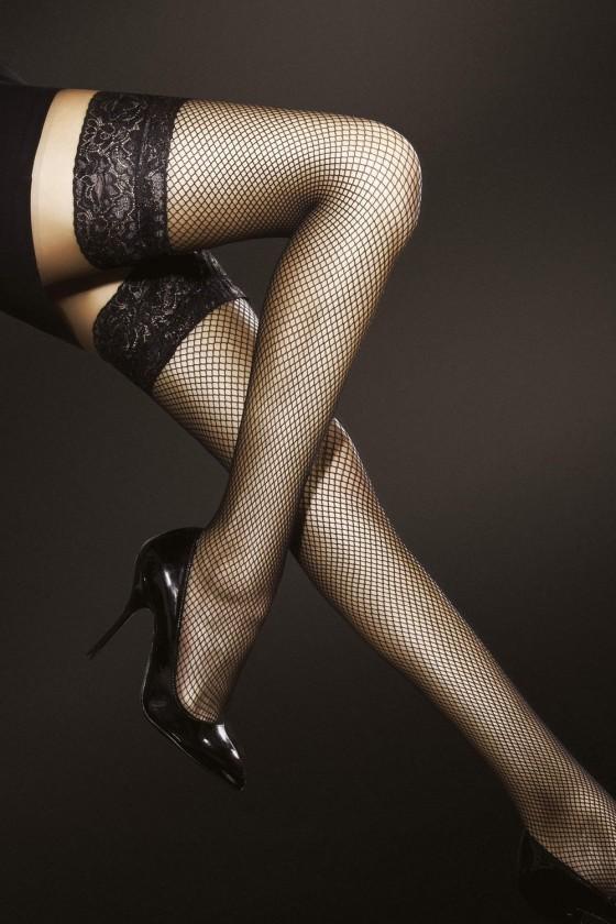 Thigh-high socks model...