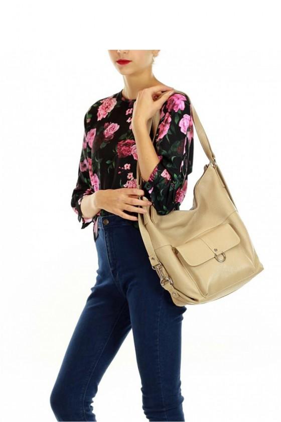 Natural leather bag model 110268 Mazzini