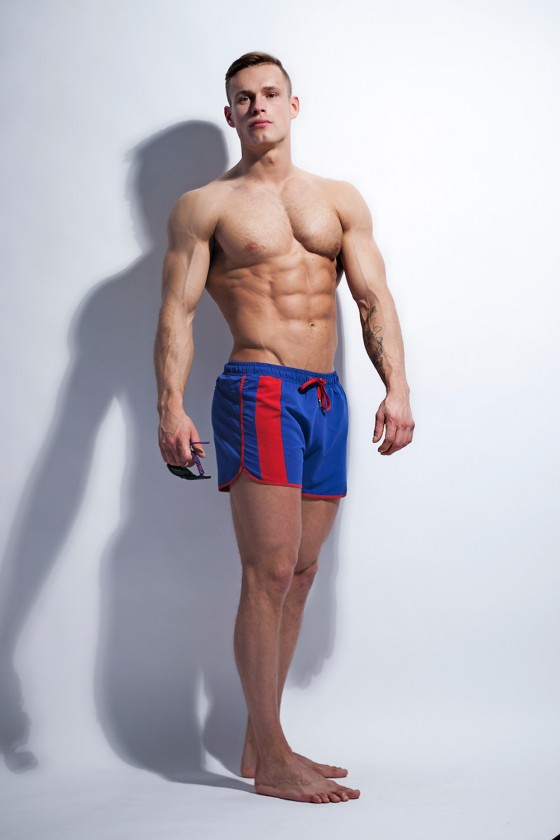 Swimming trunks model...