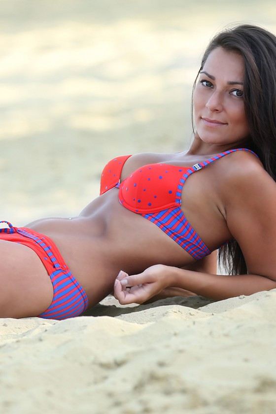 Swimsuit two piece model...