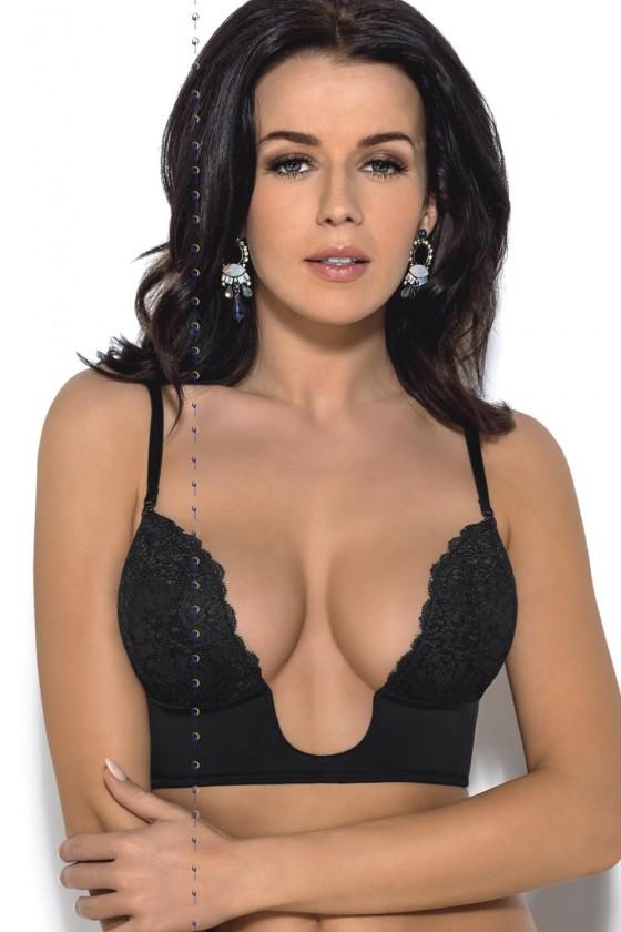 Deep neckline bra model...
