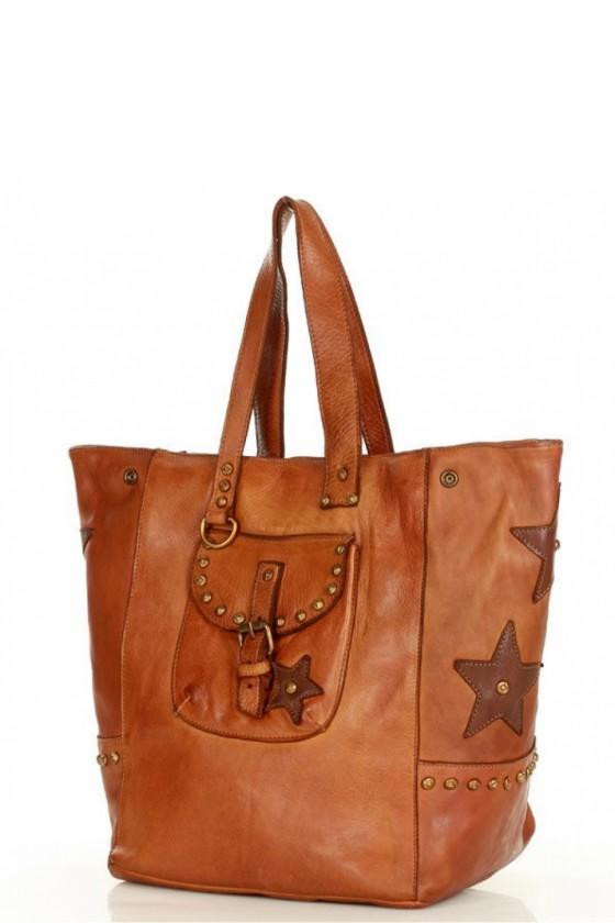Natural leather bag model 155846 Mazzini